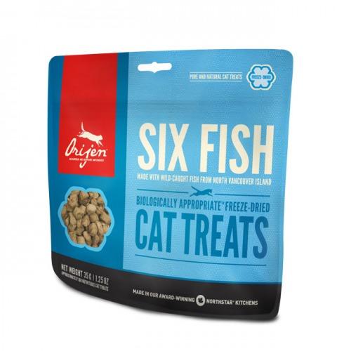 ORIJEN kārumi kaķiem SIX FISH 35gr