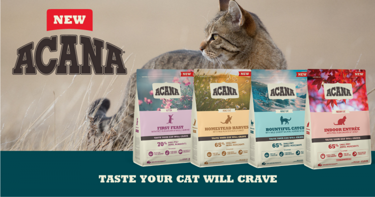 NEW TASTE – ACANA FOR CATS!